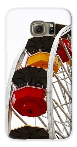 Santa Monica Pier Ferris Wheel- By Linda Woods Galaxy S6 Case by Linda Woods