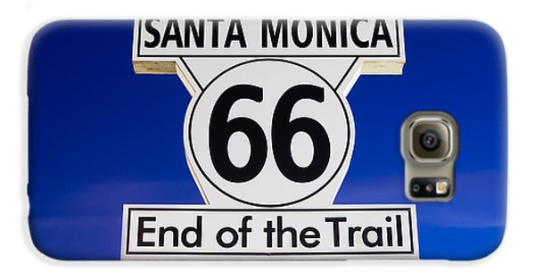 Santa Monica Route 66 Sign Galaxy S6 Case by Paul Velgos