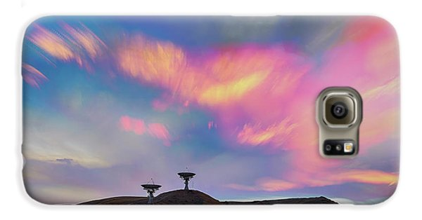 Galaxy S6 Case featuring the photograph Satellite Dishes Quiet Communications To The Skies by James BO Insogna