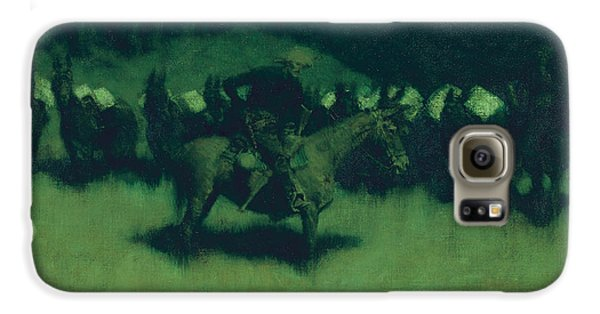 Scare In A Pack Train Galaxy S6 Case by Frederic Remington