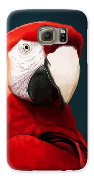 Macaw Galaxy S6 Case - Scarlet Macaw by KC Gillies