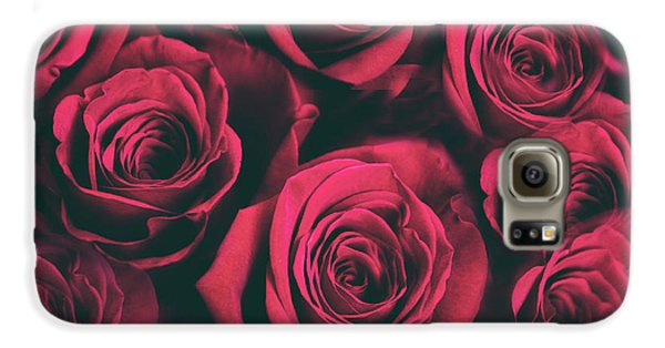 Galaxy S6 Case featuring the photograph Scarlet Roses by Jessica Jenney