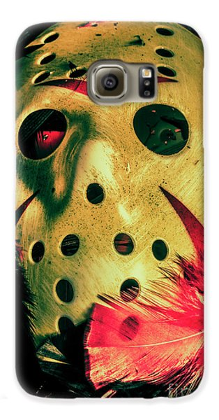 Hockey Galaxy S6 Case - Scene From A Fright Night Slasher Flick by Jorgo Photography - Wall Art Gallery