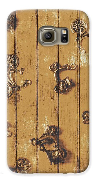 Motorcycle Galaxy S6 Case - Scooter Shed  by Jorgo Photography - Wall Art Gallery