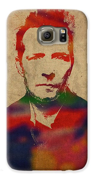 Stone Temple Pilots Galaxy S6 Case - Scott Weiland Stone Temple Pilots Watercolor Portrait by Design Turnpike