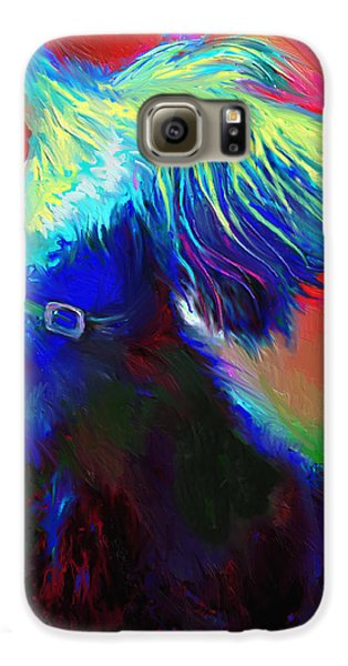 Scottish Terrier Dog Painting Galaxy S6 Case