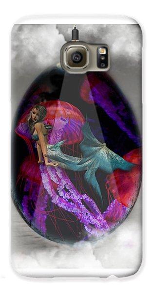 Sea Creature Mermaid Jellyfish Art Galaxy S6 Case