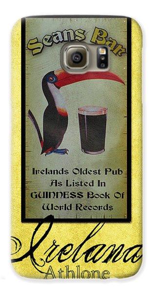 Toucan Galaxy S6 Case - Seans Bar Guinness Pub Sign Athlone Ireland by Teresa Mucha