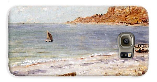 Boat Galaxy S6 Case - Seascape At Sainte Adresse  by Claude Monet