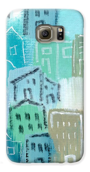 Town Galaxy S6 Case - Seaside City- Art By Linda Woods by Linda Woods