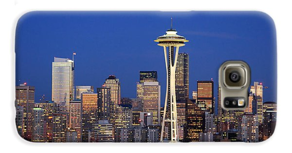 Seattle At Dusk Galaxy S6 Case by Adam Romanowicz