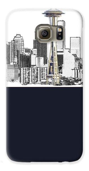Seattle Skyline Galaxy S6 Case