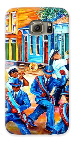 Trombone Galaxy S6 Case - Second Line In Treme by Diane Millsap
