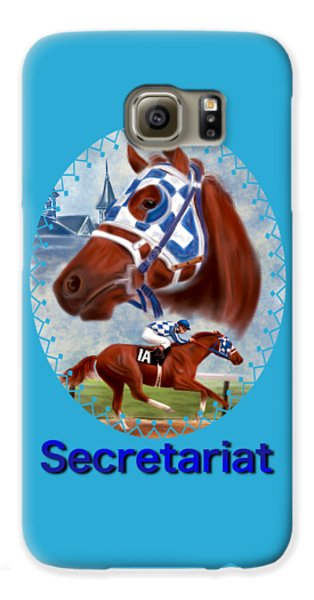 Secretariat Racehorse Portrait Galaxy S6 Case