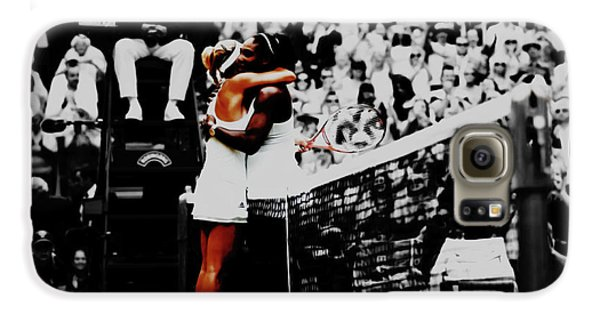 Serena Williams And Angelique Kerber Galaxy S6 Case by Brian Reaves