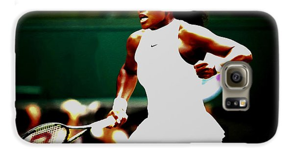 Serena Williams Making History Galaxy S6 Case by Brian Reaves