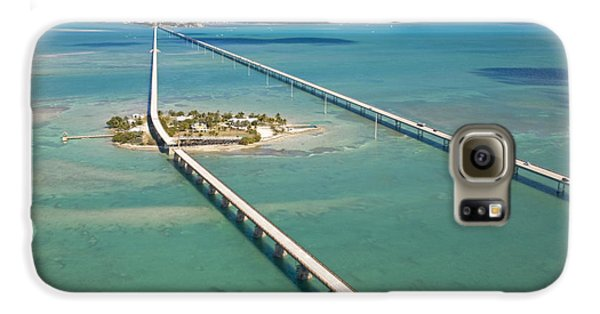 Pigeon Galaxy S6 Case - Seven Mile Bridge Crossing Pigeon Key by Mike Theiss