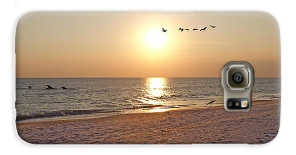 Shackleford Banks Sunset Galaxy S6 Case by Betsy Knapp