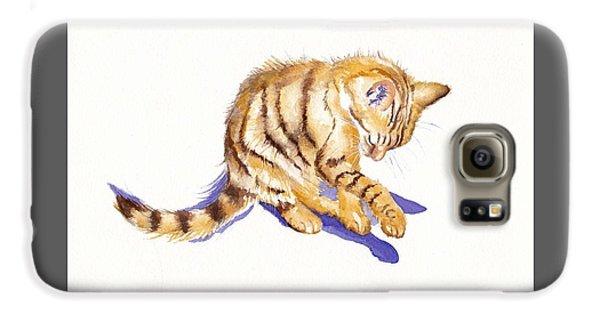 Cat Galaxy S6 Case - Shadow Boxing by Debra Hall