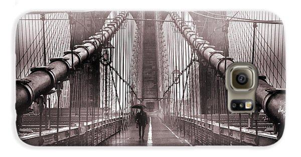 Brooklyn Bridge Galaxy S6 Case - Shadow Man by Az Jackson