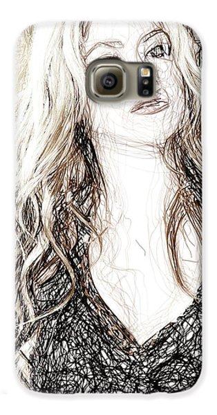 Shakira - Pencil Art Galaxy S6 Case by Raina Shah