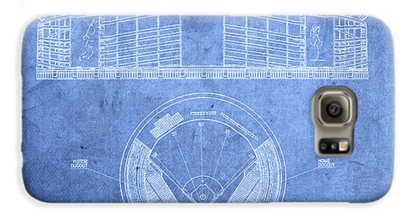 Shea Stadium New York Mets Baseball Field Blueprints Galaxy S6 Case