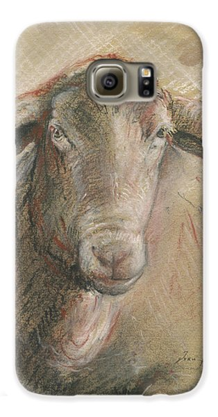 Sheep Galaxy S6 Case - Sheep Head by Juan Bosco