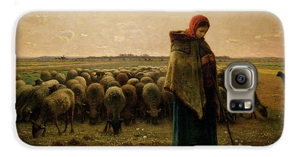 Shepherdess With Her Flock Galaxy S6 Case
