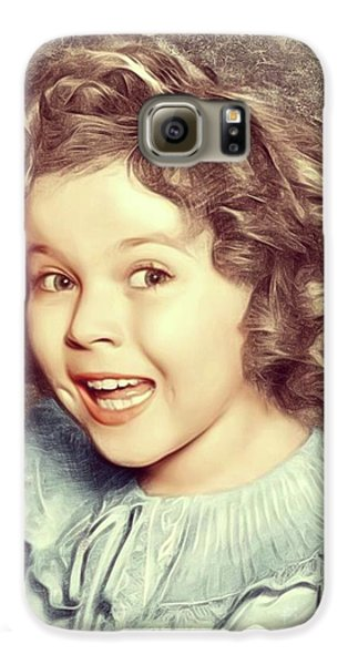 Shirley Temple Galaxy S6 Case - Shirley Temple, Actress by Mary Bassett
