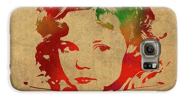 Shirley Temple Watercolor Portrait Galaxy S6 Case