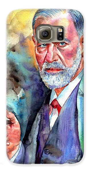 Blues Legend Galaxy S6 Case - Sigmund Freud Painting by Suzann's Art