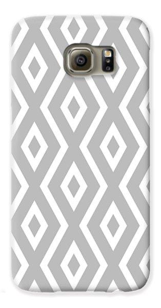 Beach Galaxy S6 Case - Silver Pattern by Christina Rollo