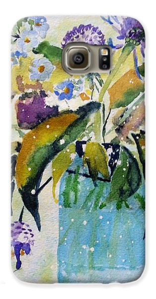 Galaxy S6 Case featuring the painting Singing The Blues by Patti Ferron