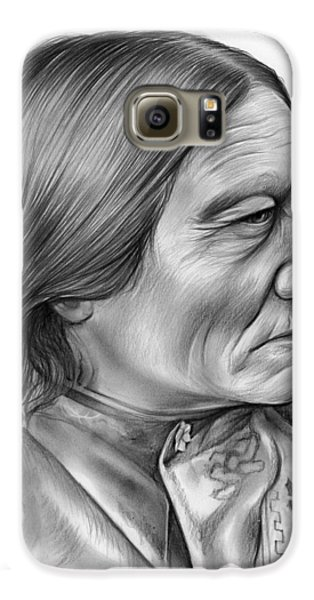Bull Galaxy S6 Case - Sitting Bull by Greg Joens