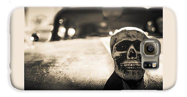 Skull Car Galaxy S6 Case by Lora Lee Chapman