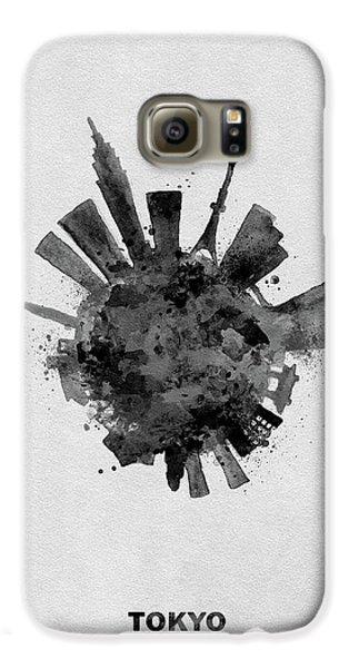 Tokyo Skyline Galaxy S6 Case - Black Skyround / Skyline Art Of Tokyo, Japan by Inspirowl Design