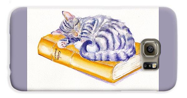 Cat Galaxy S6 Case - Sleeping Beauty by Debra Hall