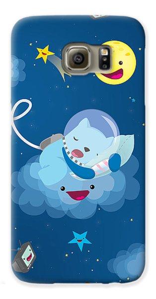 Sleepy In Space Galaxy S6 Case by Seedys