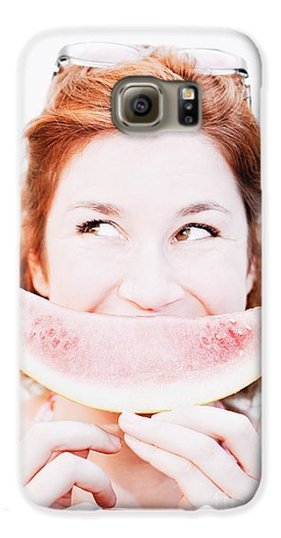 Smiling Summer Snack Galaxy S6 Case