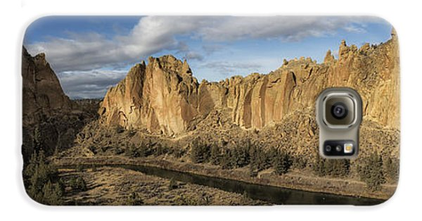 Smith Rock And Crooked River Panorama Galaxy S6 Case