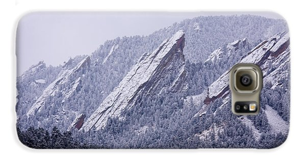 Snow Dusted Flatirons Boulder Colorado Galaxy S6 Case by James BO  Insogna