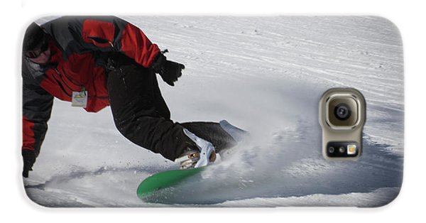 Galaxy S6 Case featuring the photograph Snowboarder On Mccauley by David Patterson