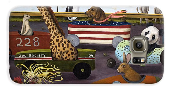 Meerkat Galaxy S6 Case - Soap Box Derby by Leah Saulnier The Painting Maniac