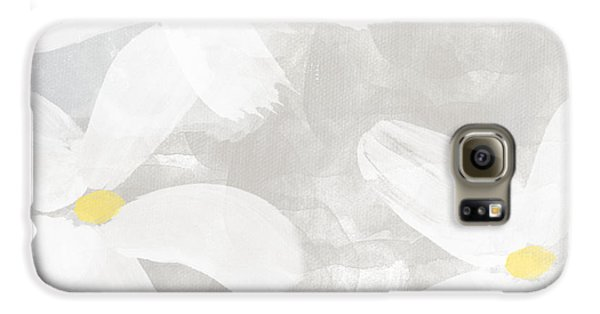 Daisy Galaxy S6 Case - Soft White Flowers by Linda Woods