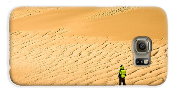 Galaxy S6 Case featuring the photograph Solitude In The Dunes by Rikk Flohr