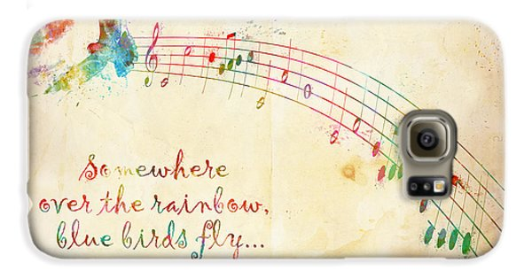 Wizard Galaxy S6 Case - Somewhere Over The Rainbow by Nikki Smith
