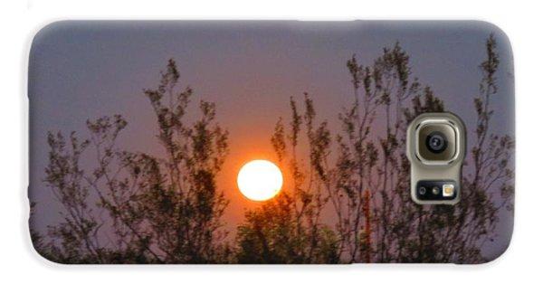 Sonoran Desert Harvest Moon Galaxy S6 Case
