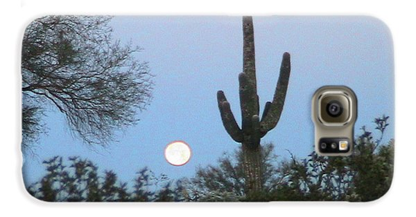 Sonoran Desert Moonset Galaxy S6 Case