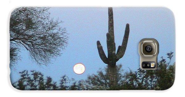 Sonoran Desert Moonset Galaxy S6 Case