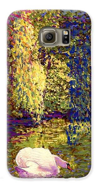 Impressionism Galaxy S6 Case - Swans, Soul Mates by Jane Small